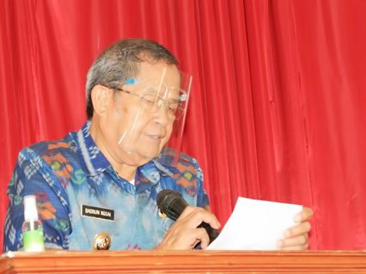 Badrun Nggai Buka Rakor Stakeholder Pilgub Sulteng