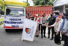 Logistik Pilkada Sulteng untuk Kabupaten Parigi Moutong Didistribusi