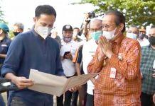 Mendikbud, Nadiem Makariem saat kunker di kota Palu, Sulawesi Tengah beberapa waktu lalu. Foto : Instagram (nadiemmakarim)