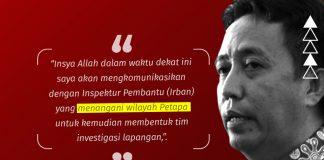 Tanggapi Laporan Masyarakat, Inspektorat Bakal Investigasi DD Petapa